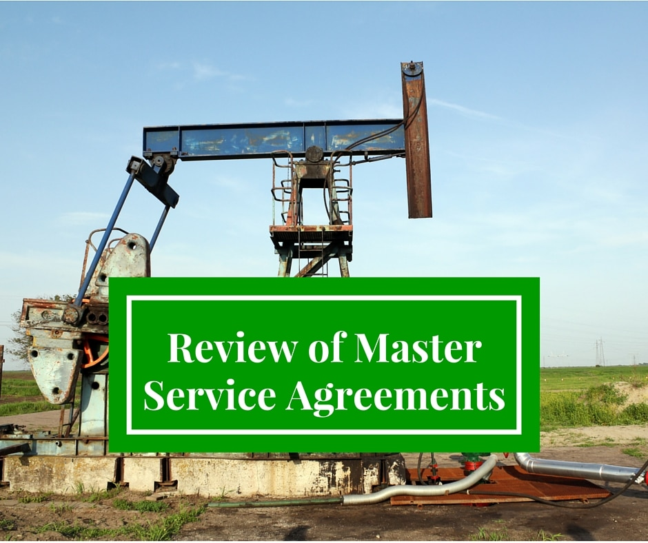Master Service Agreements Oil Gas Lawyers Wharton El Campo Tx